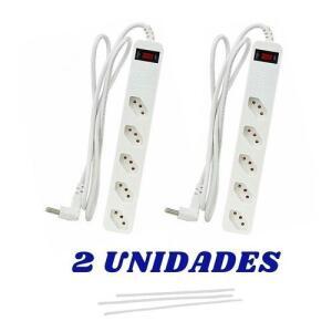 Kit 2 Filtro De Linha Clamper 5 Tomadas Iclamper Energia Branco R$86
