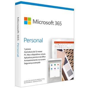 Microsoft 365 Personal Assinatura Anual para 1 Usuário PC, Mac, iOS e Android | R$ 80