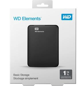HD Externo Portátil Elements 1 TB USB 3.0 Preto - WD   R$269