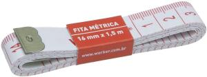 FITA METRICA 16MM 1,5M | R$2,29