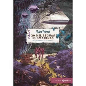 Livro - 20 mil léguas submarinas: edição comentada e ilustrada (Clássicos Zahar) | R$ 48