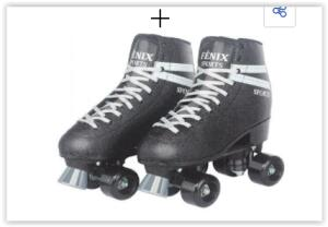 Patins Fênix Brinquedos Roller Skate RL-04 - Preto   R$ 160