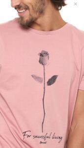 Camiseta Opera Rock Manga Curta Estampada Rosa | R$29