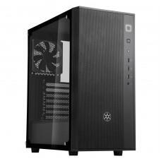 Gabinete Gamer SilverStone Fara R1, Mid Tower, Vidro Temperado, Black, Sem fonte, Com 1 Fan | R$ 270