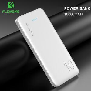 Floveme power bank 10000 mah carregador portátil   R$76