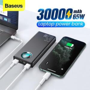 Power Bank Baseus 65W USB PD 30000mAh | R$242