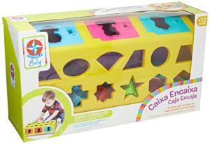 [Prime] Brinquedo Educativo Caixa-Encaixa - Estrela Baby | R$ 72