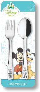 [Prime] Jogo de Talheres Infantil Disney Baby Mickey, Simonaggio, Inox   R$ 17