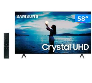 "Smart TV Samsung 58"" TU7020 Crystal UHD 4K 2020   R$ 2.555"