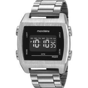 Relógio Mondaine Masculino Digital Lcd 99395G0MVNE3 Prata   R$164
