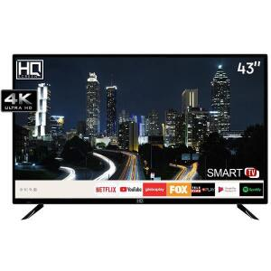 "Smart TV LED 43"" HQ HQSTV43NY Ultra HD 4K Netflix Youtube 2 HDMI 2 USB Wi-Fi   R$ 1700"