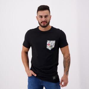 Camiseta Starter Pocket Flower VI Preta - P   R$ 27