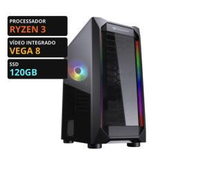 Pc Gamer T-Moba Tera Edition Ryzen 3 / Vega 8 / DDR4 16GB / SSD 120GB | R$ 2560