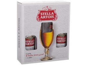 Kit Cerveja Stella Artois Lager 2 Unidades 550ml - com Cálice   R$ 30
