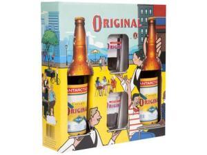 [App] Kit Cerveja Antarctica Original 600ml 2 Unidades + 2 Copos