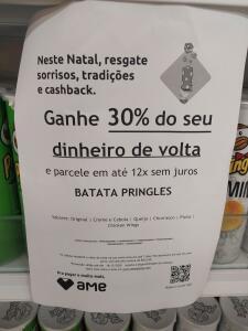 (AME R$ 7) Pringles 30% de Cashback Americanas R$10