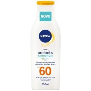 Protetor Solar Nivea Sun Protect & Sensitive FPS60 200ml | R$17