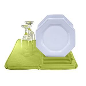 Tapete de Pia em Microfibra com Escorredor Plástico, Verde, Sanremo | R$ 27