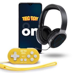 TecToy ON + Fone Bluettoth c/ Leds + Mini controle 8bitDo | R$1999