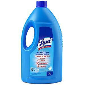 [PRIME] Desinfetante Líquido Lysol Líquido Pureza do Algodão 3L, Lysol, Azul | R$13,98