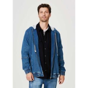 Jaqueta Hering Jeans Denim Moletom Azul | R$140