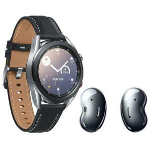 Smartwatch Samsung Galaxy Watch3 Prata 41mm LTE + Fone de Ouvido Bluetooth Samsung Galaxy Buds Live – Preto | R$ 2327