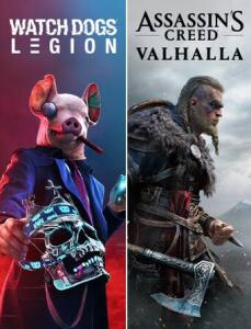 Assassin's Creed Valhalla + Watch Dogs Legion - R$206