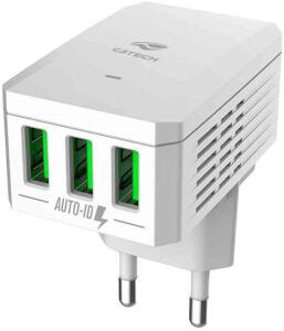 [Prime] Carregador AC/USB C3 Tech, branco, Universal 3,4A, UC-310WH R$33