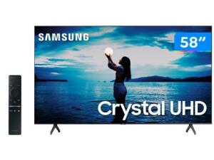 "Smart TV 4K Crystal UHD 58"" Samsung - R$2606"
