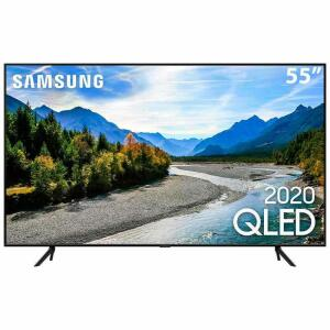 "TV LED 55"" Samsung Smart TV Q60T QLED 4K R$2849"