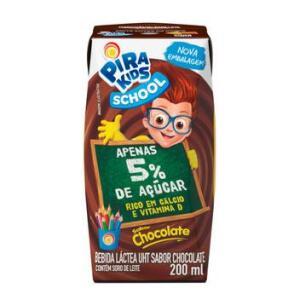 Bebida Láctea Pirakids School Sabor Chocolate 200ml (R$0,50)