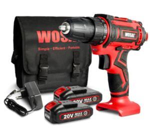 Furadeira a Bateria com 2 baterias Wosai | R$314
