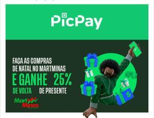 [MG] Ganhe 25% de volta no MartMinas com Picpay