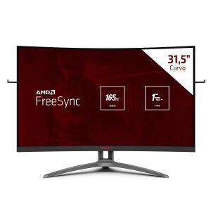 Monitor Gamer AOC 31.5 Pol. Curvo Full HD 165Hz 1ms Widescreen Agon -R$1899