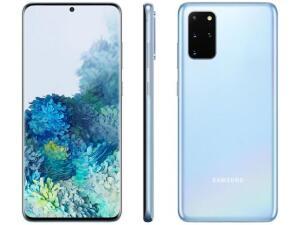 "[cliente ouro+app Magalu] Smartphone Samsung Galaxy S20+ 128GB Cloud Blue - 8GB RAM Tela 6,7"" - R$3.003"