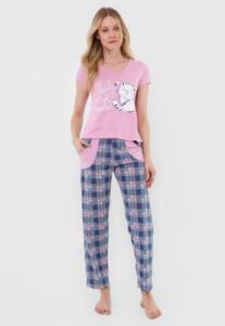 Pijama Bella Fiore Modas Longo Alice Rosa R$40