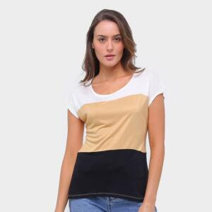 Blusa Lecimar Listrada Feminina - Bege | R$20