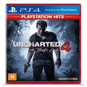 (APP+Selecionados) Jogo Uncharted 4 A Thief's End Hits - PS4 - R$24