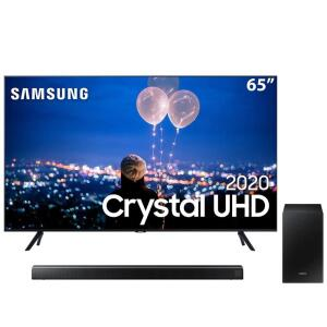 "Smart TV LED 65"" UHD 4K Samsung 65TU8000 + Soundbar Samsung HW-T550 - 320W   R$ 4.300"