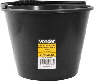 Balde Plástico Uso Geral 12 Litros, Vonder Vdo3106 Vonder | R$7