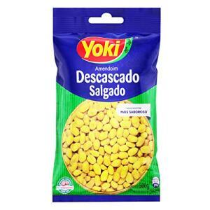 Amendoim Descascado Salgado Yoki 500g R$9