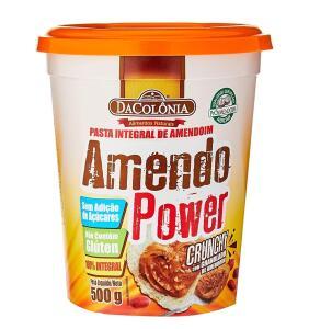 Amendopower Pasta Amendoim Crunchy Granulado Zero 500G R$11