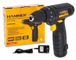 Furadeira Parafusadeira 12v Lítio C/kit Bivolt Pli-10 Hammer - R$ 141,00