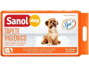 Tapete Higiênico Sanol Dog 80x60cm - 30 Unidades R$74