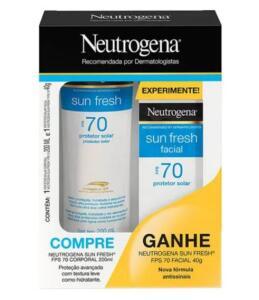 Kit Neutrogena Sun Fresh Protetor Solar Corporal FPS70 200ml + Facial FPS70 40g