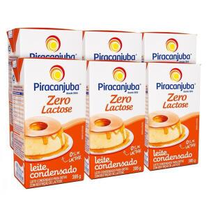 Kit Leite Condensado Piracanjuba Zero Lactose 6x395g | R$12