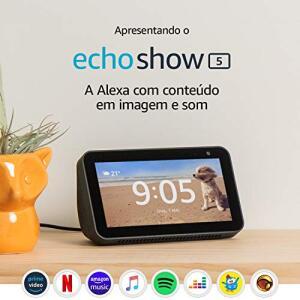 """Echo Show 5 - Smart Speaker com tela de 5,5"""" e Alexa - Cor Preta R$569"""