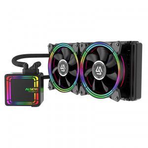 Water Cooler Alseye H240 Black, 240mm, RGB, Intel-AMD | R$370