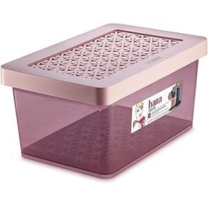 Caixa organizadora alta 8,5L rosa OR85502 Ordene | R$15