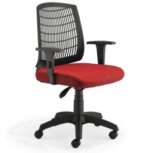 Cadeira Roal Unik Giratória, Vermelha